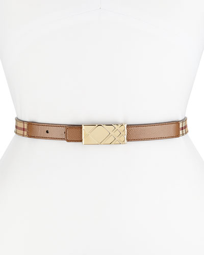 Printed Check-Buckle Plaque Belt