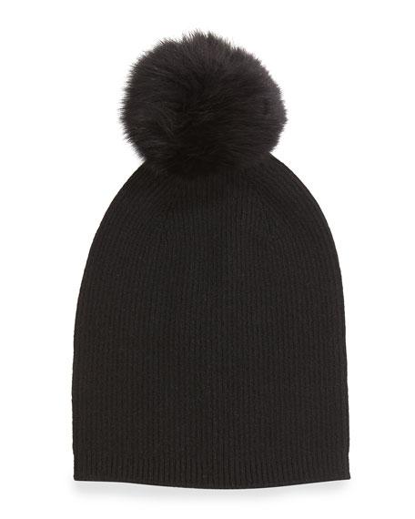 b2be65c0da5 Sofia Cashmere Cashmere Fur-Pom Hat