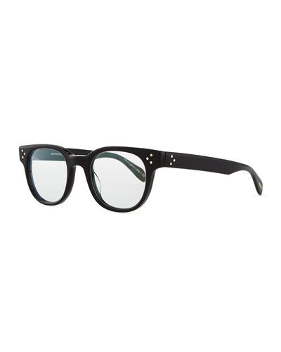 Afton Round Fashion Glasses, Black