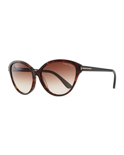 Priscila Cat-Eye Sunglasses, Brown