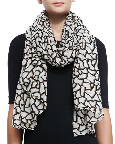 Graphic Pebble Print Scarf