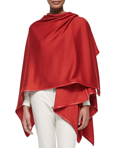 Madison Summer Plonge-Trim Jersey Cape