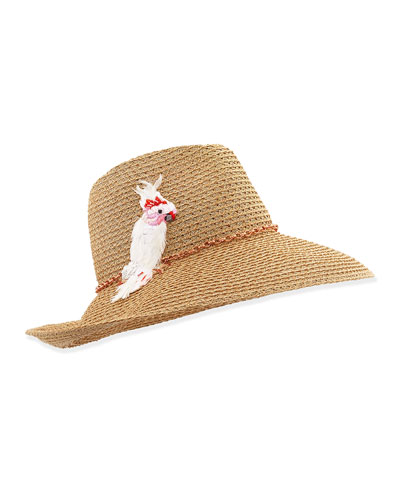 Emmanuelle Hat with Cockatoo