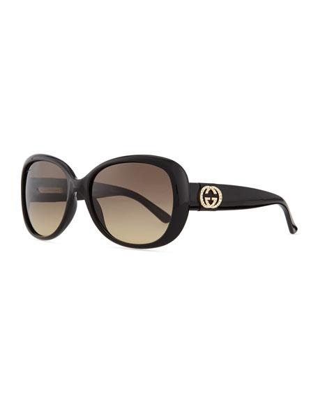 5e143f3265cfd Gucci Crystal GG Logo Sunglasses