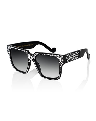 Coco And The Row Sunglasses, Black Crystal