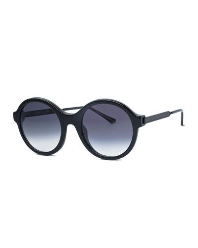 Gifty Round Sunglasses, Black
