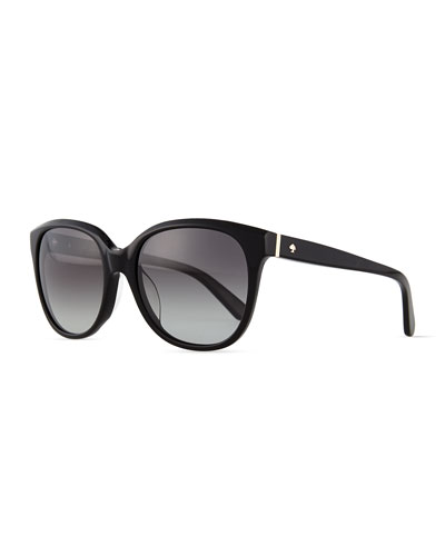 bayleigh butterfly sunglasses, black