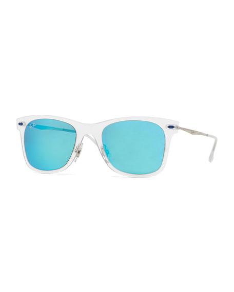 Ray-Ban Wayfarer Mirror Matte Clear Sunglasses, Turquoise
