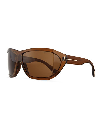 Sedgewick Wrap Sunglasses, Brown
