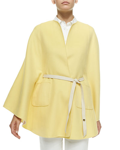 Summer Andana Reversible Cashmere Cape, Yellow