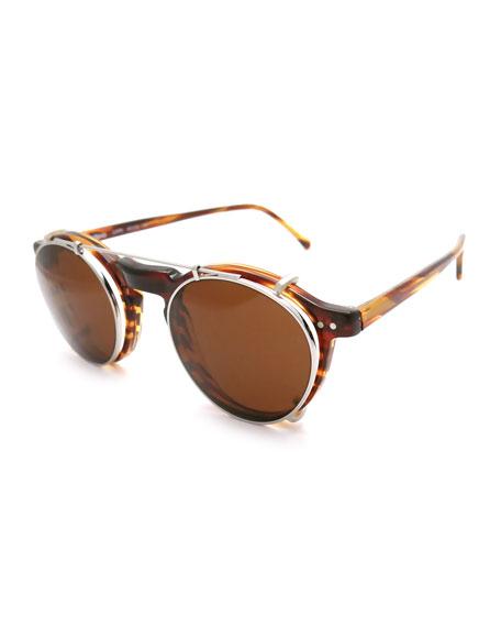 Illesteva Capri Fashion Glasses with Clip-On Sun Shield
