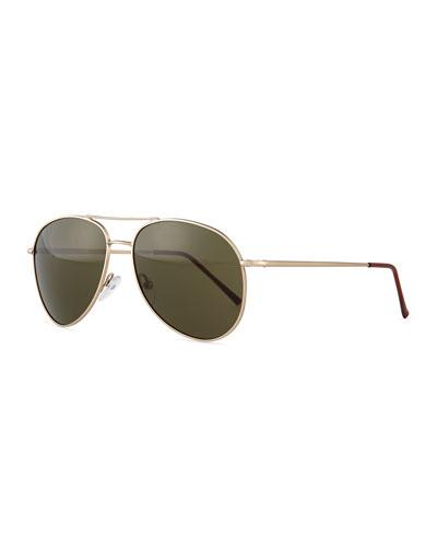 Lispenard Aviator Sunglasses, Golden