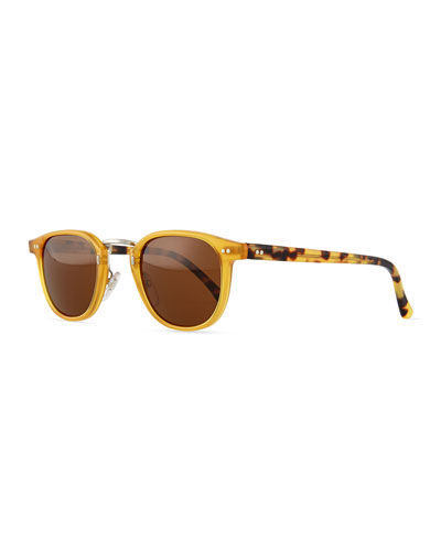 Tribeca Round Sunglasses, Blonde/Havana