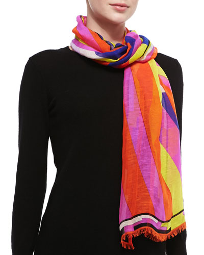 Swirl Tunnel Printed Stole