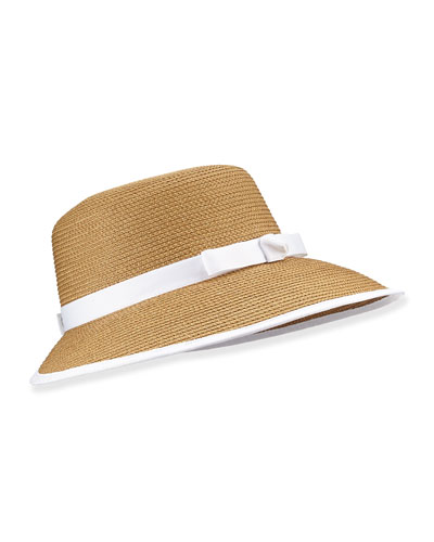 Squishee Sun Cap, Natural/White