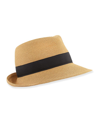 Squishee Classic Fedora, Natural/Black