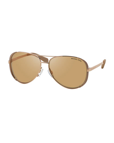 Chelsea Soft Touch Aviator Sunglasses, Taupe