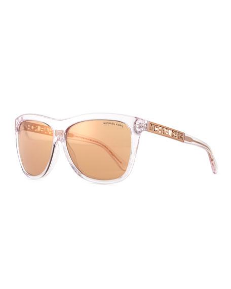 699d0bbba397 Michael Kors Benidorm Square Flash Sunglasses