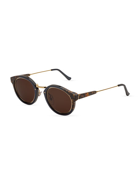 56e4872e231984 Super by Retrosuperfuture Panama Round Sunglasses