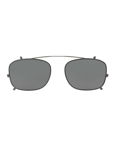 Clip-On Sunglasses for Optical Frames, Dark Gray