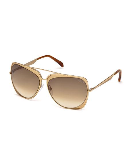34d7b052ca Emilio Pucci Rose Golden Aviator Sunglasses