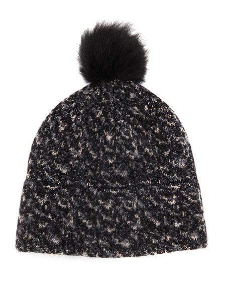 a9f315b4b3f Rag   Bone Scarlett Melange-Knit Beanie Hat