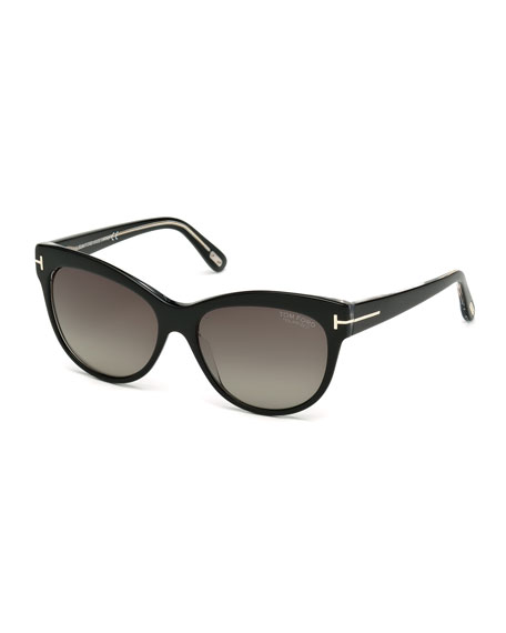 6d4a4f7057900 TOM FORD Lily Polarized Cat-Eye Sunglasses
