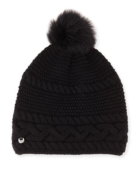 UGG Cable-Knit Beanie w  Pompom 039f52254ecd