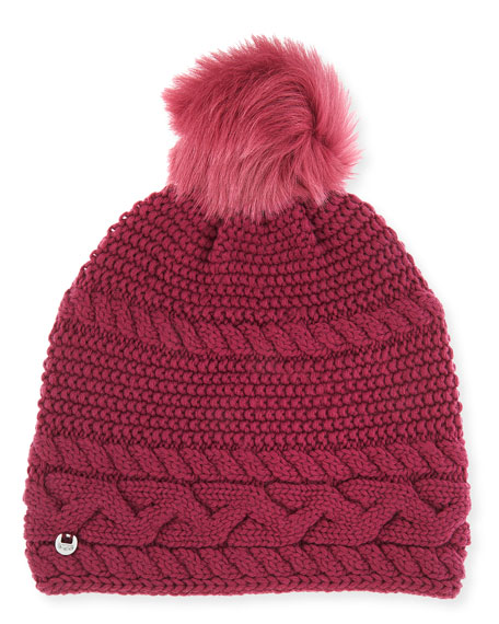 32222d3a4d4 UGG Cable-Knit Beanie w  Pompom