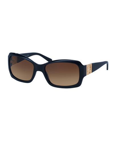 Gradient Rectangular Sunglasses, Navy