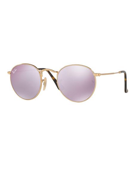 d71652f2fd Ray-Ban Mirrored Round Flash Sunglasses