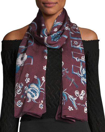 Printed Woven Jacquard Stole