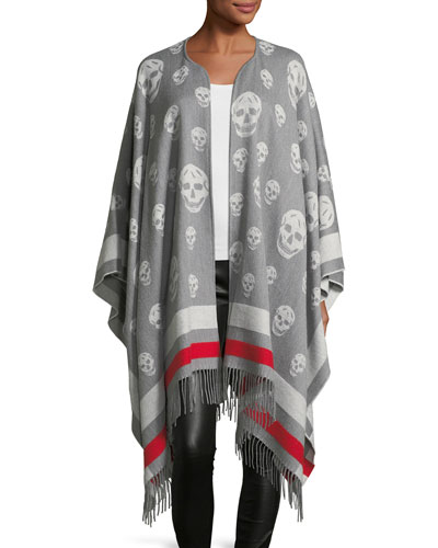 Big Skull Wool-Cashmere Cape