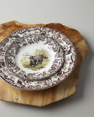 Four Black Bear Salad Plates