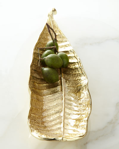 Champa Leaf Cracker Plate