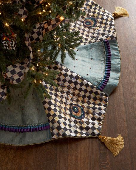 jeweled peacock christmas tree skirt - Peacock Christmas Tree Skirt