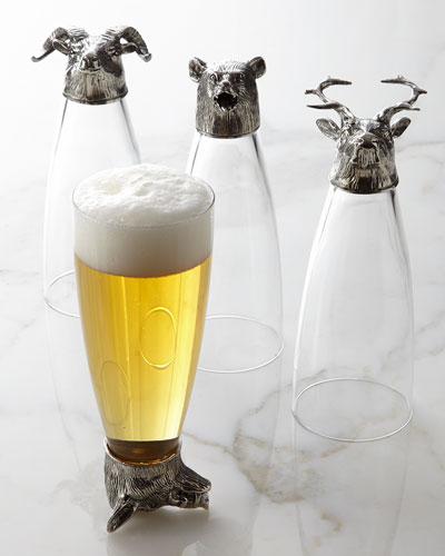 Four Animale Assorted Pilsner Glasses