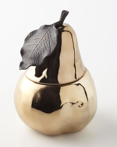 Pear Sculpted Filled Candle