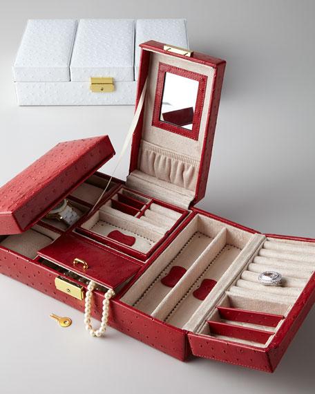 Rowallan of Scotland Meryl Ostrich Jewelry Box