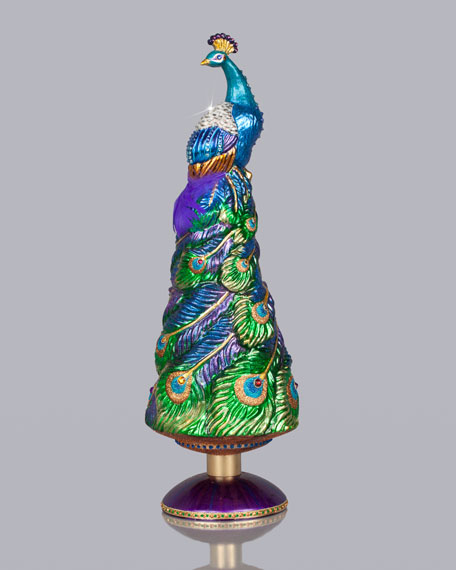 grand peacock christmas tree topper - Peacock Christmas Tree Topper