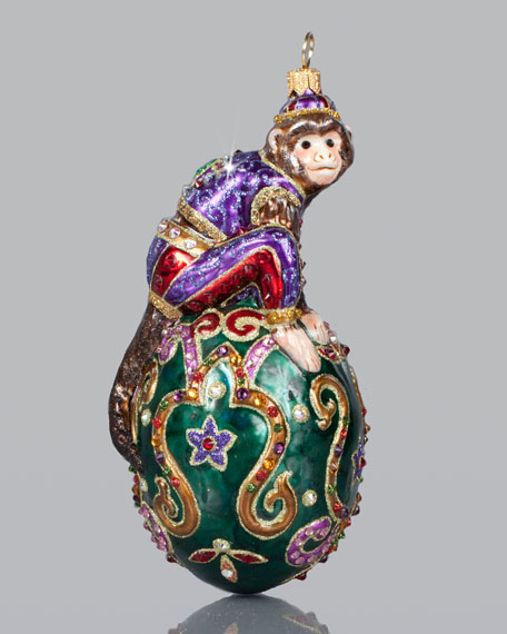 Monkey In An Egg Christmas Ornament