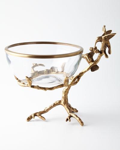 Brass & Glass Decorative Bowl