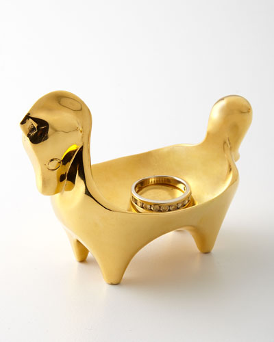Brass Horse Ring Bowl