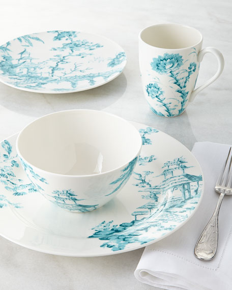 Four-Piece Toile Dinnerware Place Setting & Scalamandre by Lenox Four-Piece Toile Dinnerware Place Setting