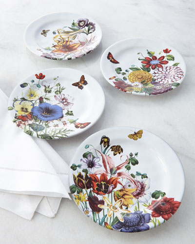 Four Field of Flowers Party Plates
