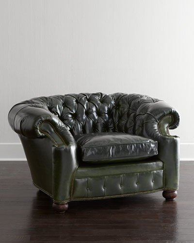 Liberty Creek Collection Leather Pub Chair