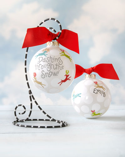 Dashing Through The Snow Personalized Christmas Ornament