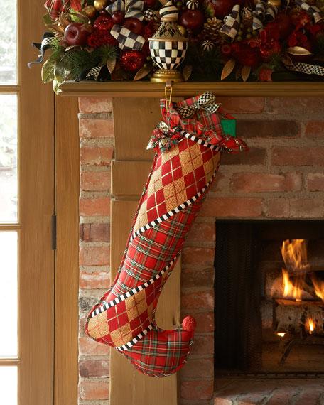 mackenzie childs gala christmas stocking