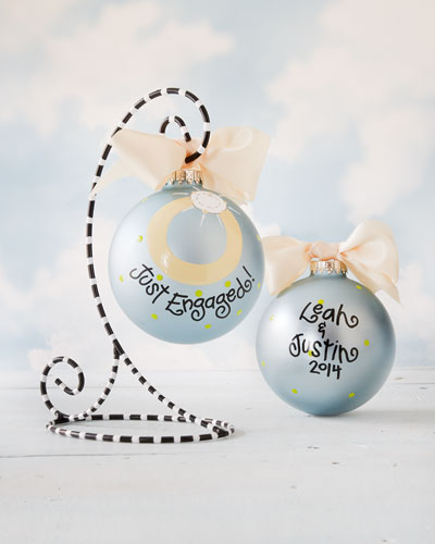 Just Engaged Personalized Christmas Ornament