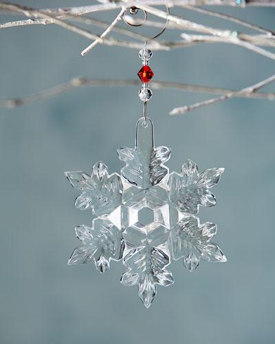 2014 Snow Crystal Christmas Ornament